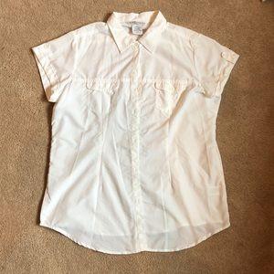 Lightweight Exofficio button up white shirt